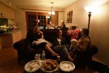 Hos bruden(Rachelle) familie